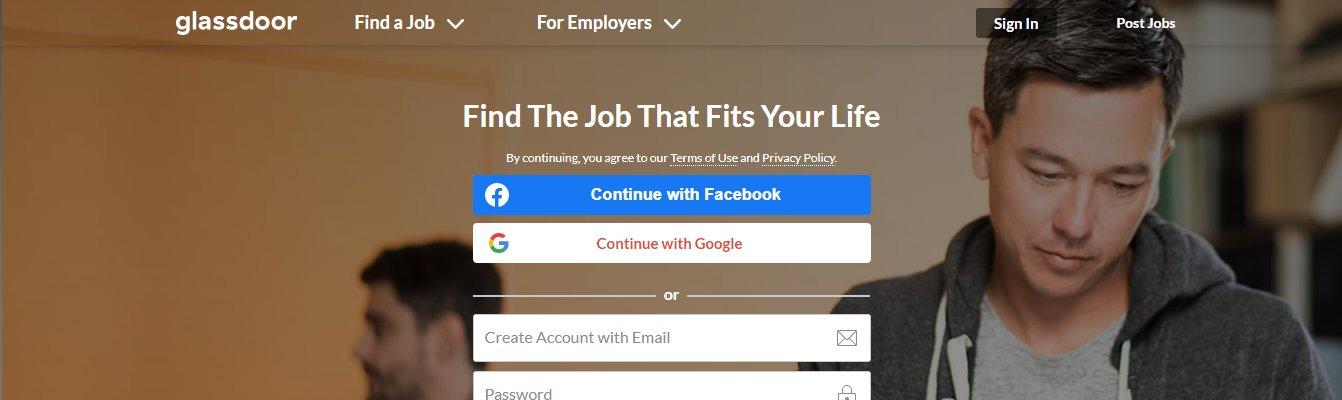 Glassdoor 1 - Top 10 Job Search Websites of 2021