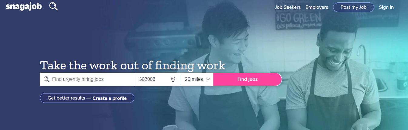 Snagajob - Top 10 Job Search Websites of 2021