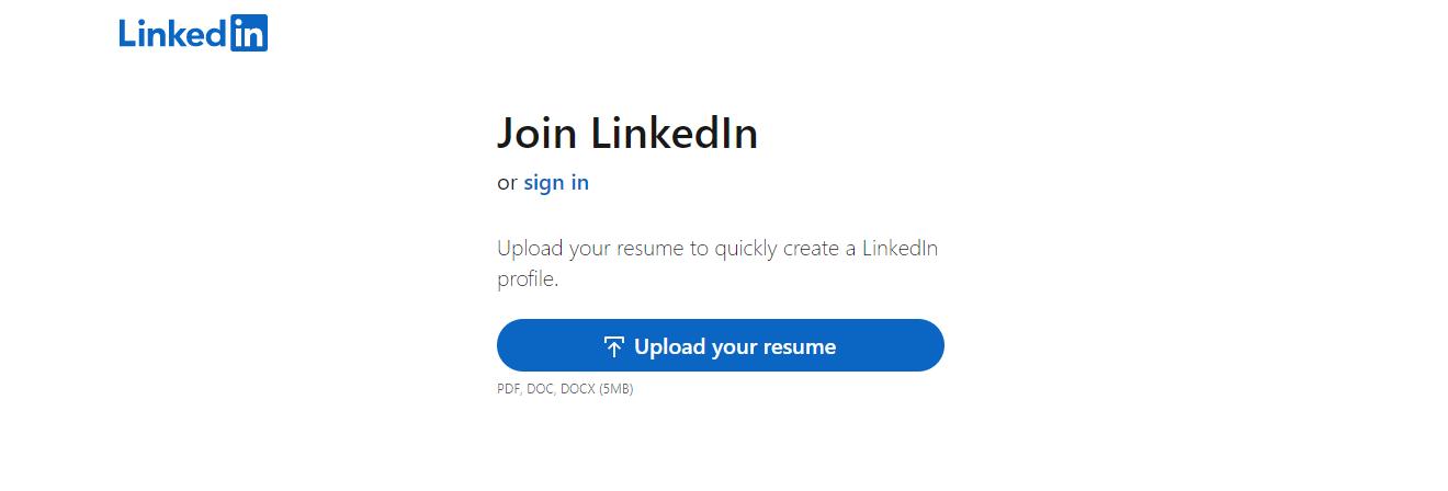 Sign Up LinkedIn - Top 10 Job Search Websites of 2021