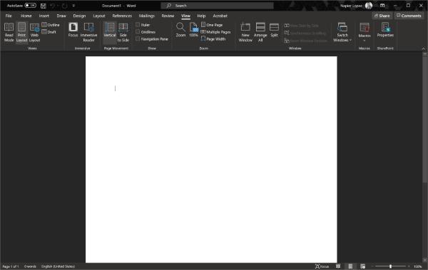 dark mode - Microsoft Word is testing an even darker dark mode