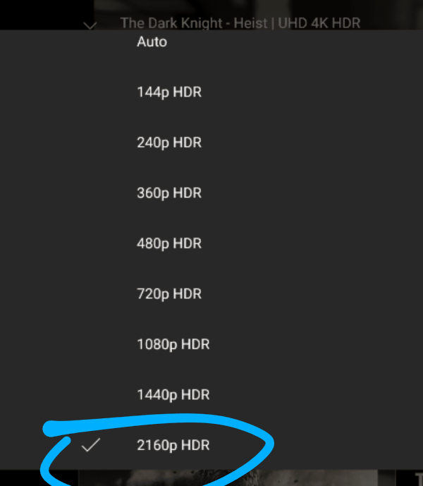 Screenshot - YouTube now supports 4K on low-res Phones