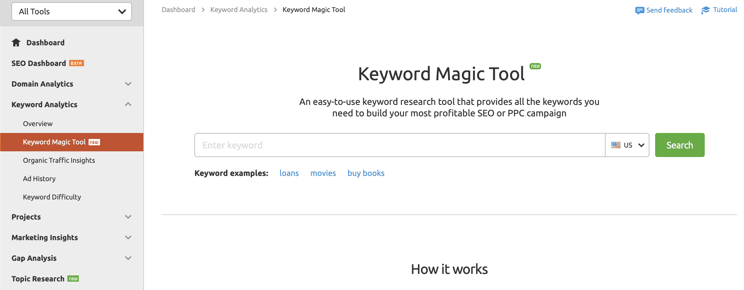 SEMrush Keyword Magic Tool 1 - Best 10 Semrush Alternative for 2021 (Free & Paid)