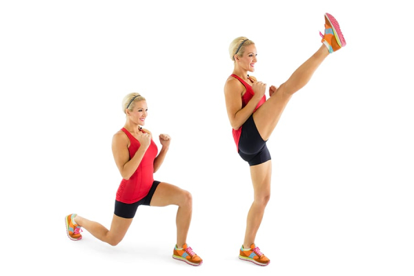 Front Kick - How to Lose Belly Fat at home with Exercise?