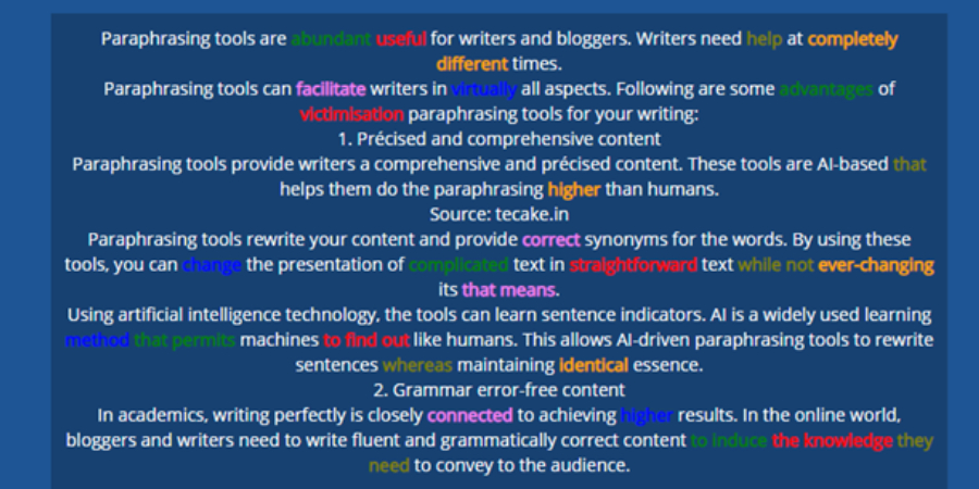 New Project 71 - How are AI-based Paraphrasing Tools helpful in Writing?