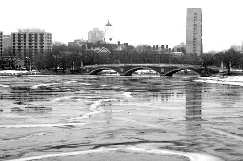 Students ignored warnings and dangerous ice  as they ventured accross the frozen Charles River. If caught, offendors could face fines of up to $200.