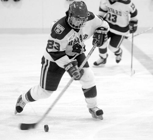 Junior forward LAUREN McAULIFFE (23) notched a goal and an assist in Harvard's 4-1 win over Princeton.