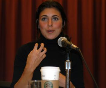 """""""Sopranos"""" star JAMIE-LYNN SIGLER, spoke yesterday on a panel at the Gutman Conference Center that kicked off National Eating Disorders Awareness Week."""