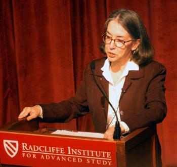 CAROLINE WALKER BYNUM lectures at the Radcliffe Institute for Advanced Study on violence in the religious imagery of the Middle Ages.