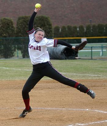Junior captain KARA BROTEMARKLE picked up a complete game win yesterday.