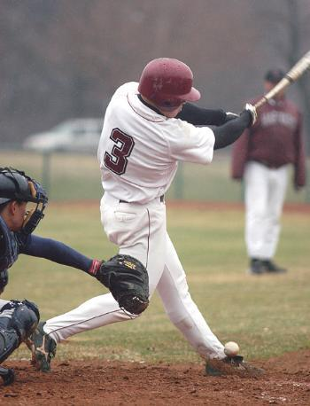 Freshman infielder ZAK FARKES (3) had two hits and two RBI in Harvard's 11-6 victory over Penn.