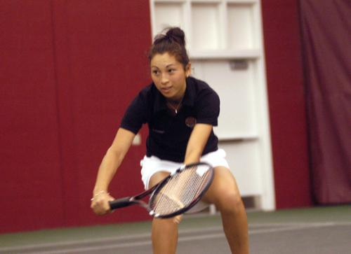 Sophomore SUSANNA LINGMAN won all four of her matches this weekend to lead Harvard over Brown and Dartmouth.