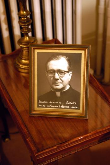 A portrait of Opus Dei founder Josemaria Escriva