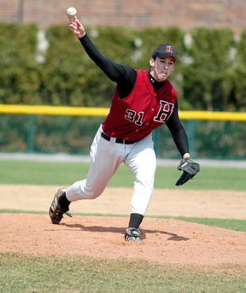 Sophomore MIKE MORGALIS pitched six strong innings and struck out seven for an 8-4 win in game one Saturday.