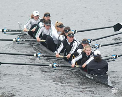 The Radcliffe heavyweight varsity boat had an exhausting weekend, beating UVA and Yale Saturday and falling to Brown.