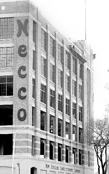 The Necco factory, seen as it stands today, will soon undergo renovations to become a research facility for drug firm Novartis.
