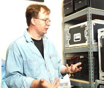EAN WHITE directs the Harvard University Studio for Electroacoustic Composition in Paine Music Hall.