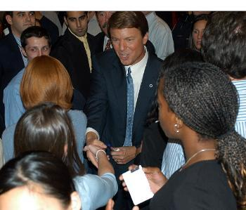 Sen. JOHN EDWARDS, D-N.C., came to Harvard last night to face Chris Matthews of MSNBC's 'Hardball' and meet with students in Kirkland House.