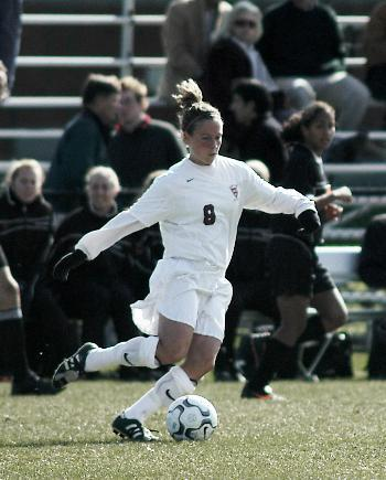 Senior midfielder KATIE WESTFALL's assist on junior back Liza Barber's 12th-minute goal Saturday was the 30th of her career, leaving her six shy of the school record with three regular-season games remaining.