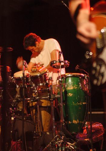 Guster drummer BRIAN ROSENWORCEL.