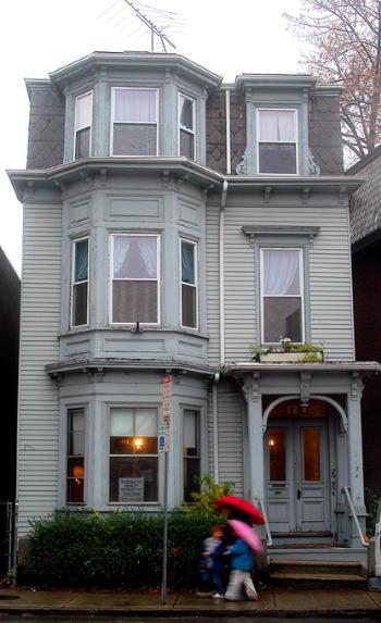 Sigma Chi's Harvard chapter, Kappa Eta, placed a bid on this house at 1124 Mass. Ave. The property, located near the intersection of Mass. Ave. with Arrow Street, sold for a price higher than the chapter offered.