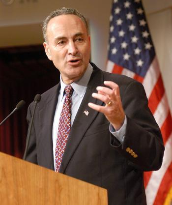 Sen. CHARLES E. SCHUMER '71, D-N.Y., defended the Senate practice of vetting judicial candidates for ideological extremism in a speech at the JFK Jr. Forum Friday.
