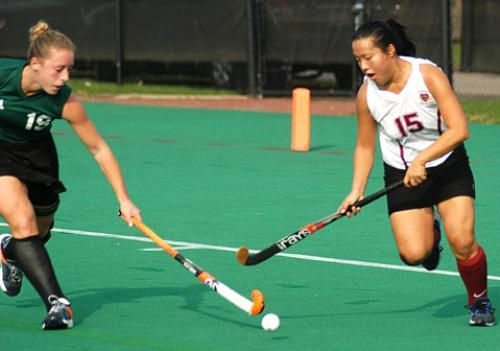 Sophomore forward BETH SACKOVICH scored two of the Crimson's three goals in its shutout win over Columbia on Saturday.