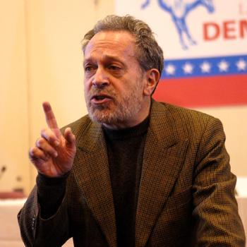 """Former U.S. Secretary of Labor ROBERT B. REICH warns that the Democratic Party """"as a party is comatose"""" at Saturday's Law School convention."""