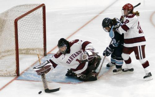 Freshman goaltender EMILY VITT has only been scored against once in three games, with a goals-against average of 0.33.