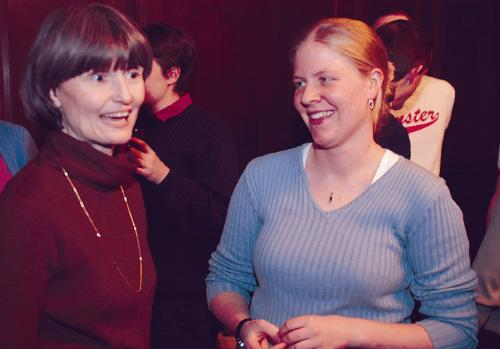 Ann Porter (left), pictured here in Dunster in 2004, passed away peacefully on Wednesday morning following an illness.