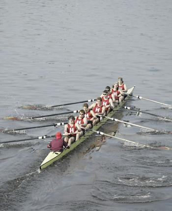 The Harvard men's heavyweight crew team went undefeated en route to the national championship.