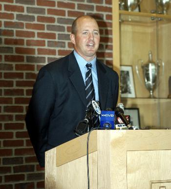Ted Donato '91 was named the 11th men's hockey coach in Harvard history at a press conference yesterday morning.