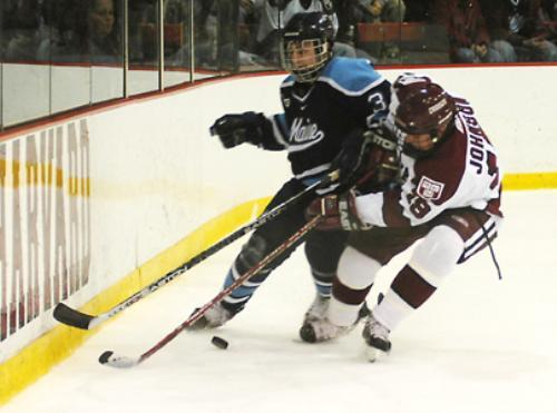 Junior forward Charlie Johnson had a goal and an assist in Harvard's 4-1 win over No. 11 Maine on Saturday.