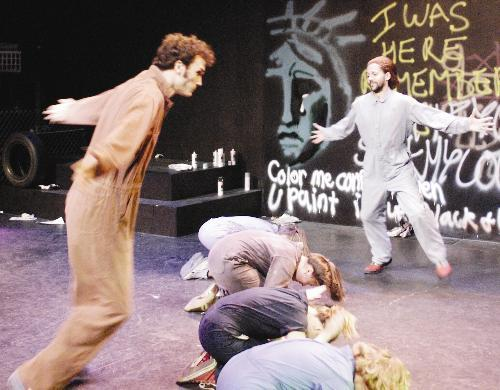 """""""Graffiti,"""" presented over the weekend at the Loeb Experimental Theater, innovatively combined spoken word theater, music, and dance to make observations and commentary on urban life."""