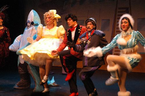 """The cast of Hasty Pudding Theatricals, the nation's oldest theater company, shimmies and shakes in spangles and stillettos in its 158th production """"Some Like it Yacht,""""  a musical mystery on the high seas."""