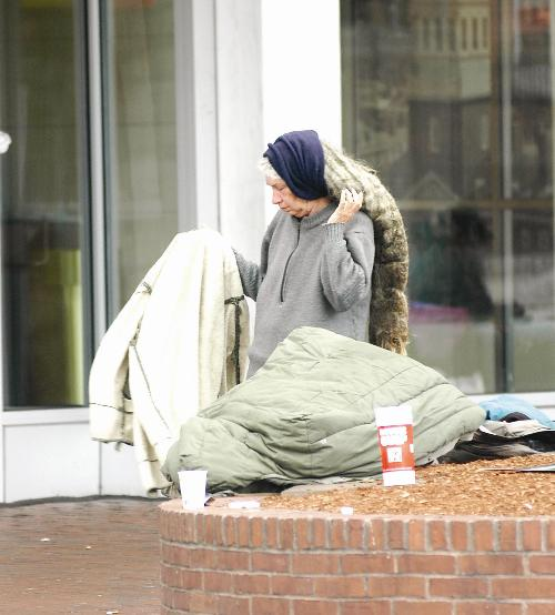 This year's census of Cambridge's homeless counted 445 individuals, 39 fewer than last year.