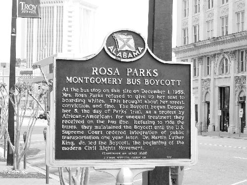 Montgomery, Ala became a flash point for the civil rights movement in 1965, following the Selma marches and 10 years after Rosa Parks' refusal to leave her seat on a municipal bus. The editors of the Courier decided to move the paper's headquarters here a