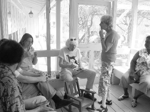 Guests meet and greet at Pea Level, the home of famed civil rights activists Clifford and Virginia Durr, outside of Montgomery.