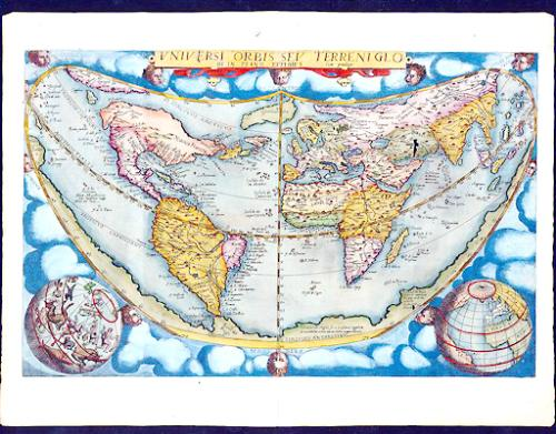 This map of the world, stolen from Yale University, was one of 97 lifted by E. Forbes Smiley III, who pled guilty to the thefts earlier this month.