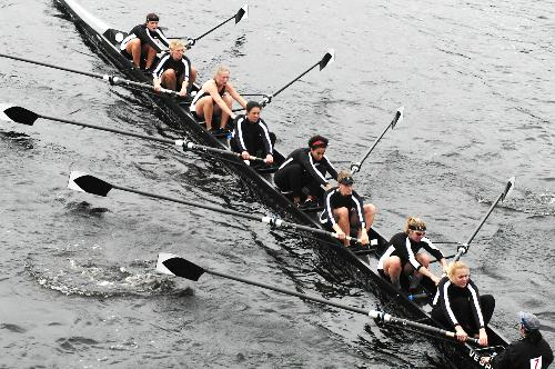 Harvard women row in the championships of the eight-person competition during last October's Head of the Charles Weekend. The Head of the Charles Regatta is one of the nation's best-attended athletic competitions.