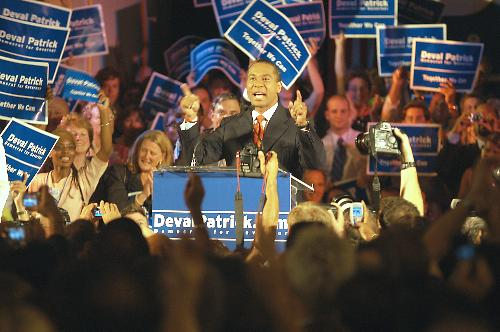 Deval L. Patrick '78, a former Dunster House resident, made a giant leap towards becoming Massachusetts' first-ever African-American governor last night, winning the Democratic Party's nomination by a 23-point margin.