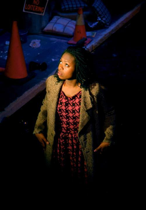 Jenne B. Ayers '10 plays Hester La Negrita, a homeless single mother of five illegitimate childre, in the BlackC.A.S.T. production of 'In the Blood.'