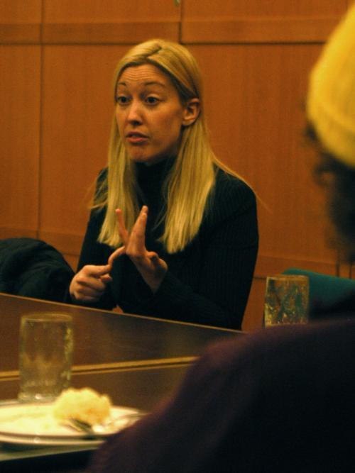 Ruti Lande, former Israeli diplomat and Wexner Fellow at the Kennedy School of Government, speaks at Hillel last night in a conversation about Israel and its future.