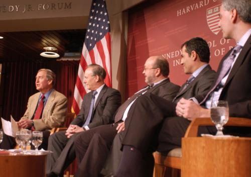 Panelists took part in a discussion of U.S.-Iranian relations at the Institute of Politics last night.