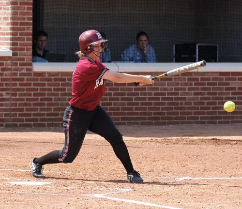 Senior shortstop Lauren Brown provided the margin of victory in the nightcap of the Crimson's Saturday Ivy League Softball Championship sweep of Penn, blasting a two-run homer in the 4-2 win.