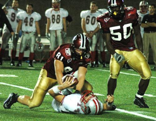 Captain Brad Bagdis and the Harvard defense had a solid second half, shutting out the Bears offense after 17 first-half points.