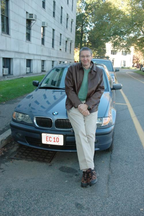N. Gregory Mankiw, who teaches the introductory economics course, owns a BMW with a fitting vanity plate. He says he'll pass it on to Ec 10's next head.