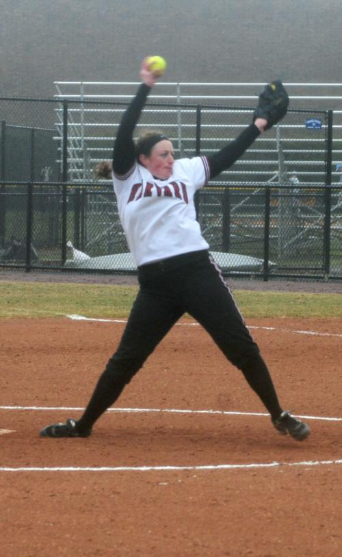The Crimson overpowered the Lions for two 10-3 victories yesterday behind stellar pitching that gave up just two earned runs in the doubleheader.