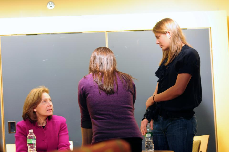 Ellen Alemany, Forbes 57th Most Powerful Woman, told undergraduates yesterday it's important to develop a passion.