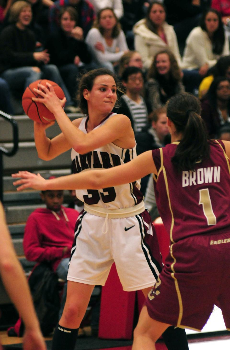 Junior Emma Markley paced the Crimson with 13 points and six rebounds in a 69-53 road win at NJIT.