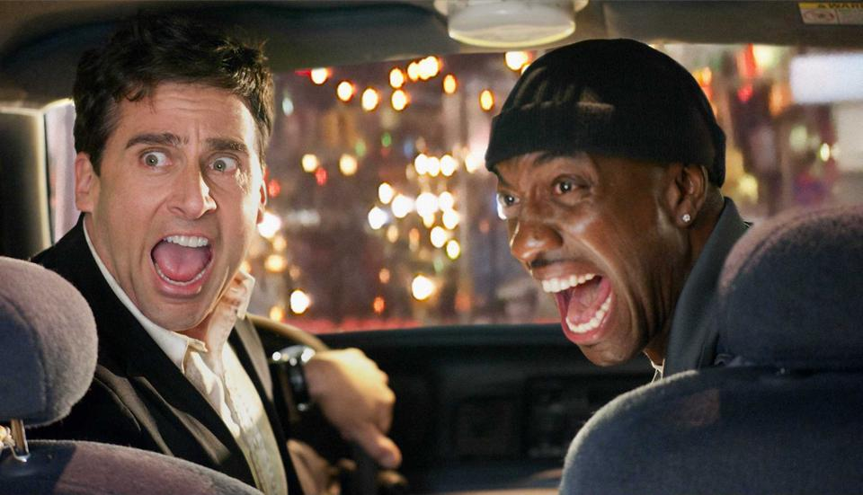 """In """"Date Night,"""" a stagnant couple (played by comedic heavyweights Steve Carell and Tina Fey) tries to spice up their romantic lives with an evening on the town. Their dinner plans, however, go wildly off course when they steal a reservation placed by two petty criminals on the run from the law."""